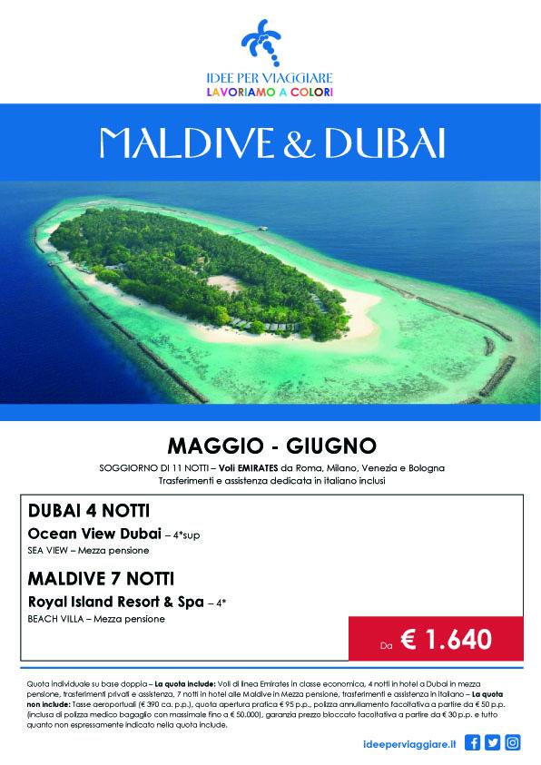 Gan Holidays | MALDIVE E DUBAI MAGGIO E GIUGNO